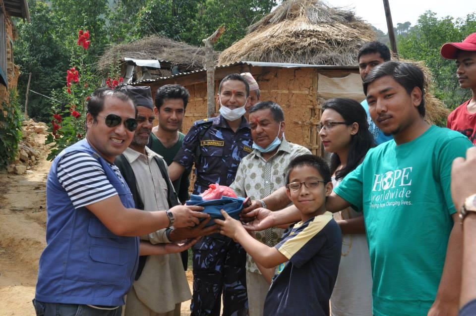 Relief Distribution – Mahadevsthan, Sindhuli Maadi