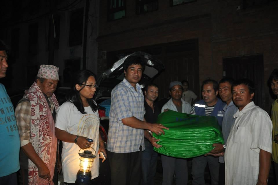 Relief Material Distribution – Bhaktapur