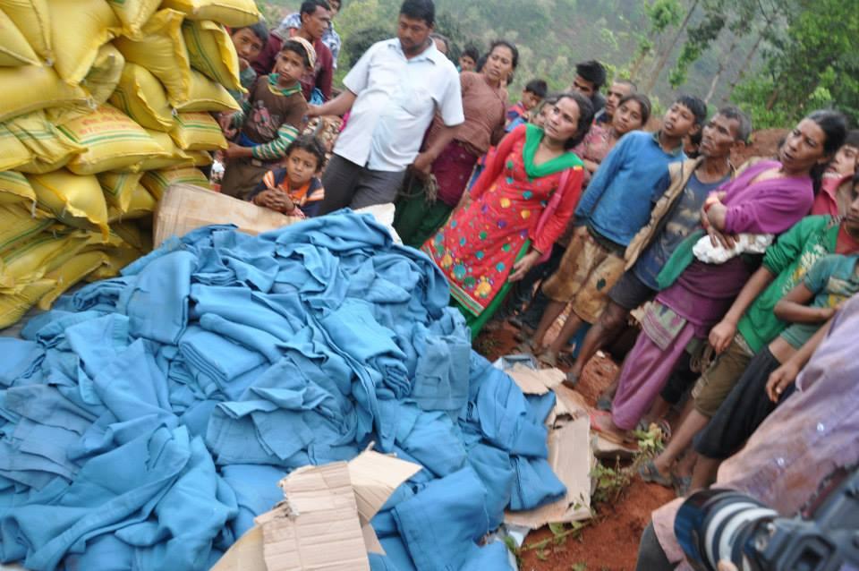 Relief Distribution – Paati Gaun, Shindhupalchwok
