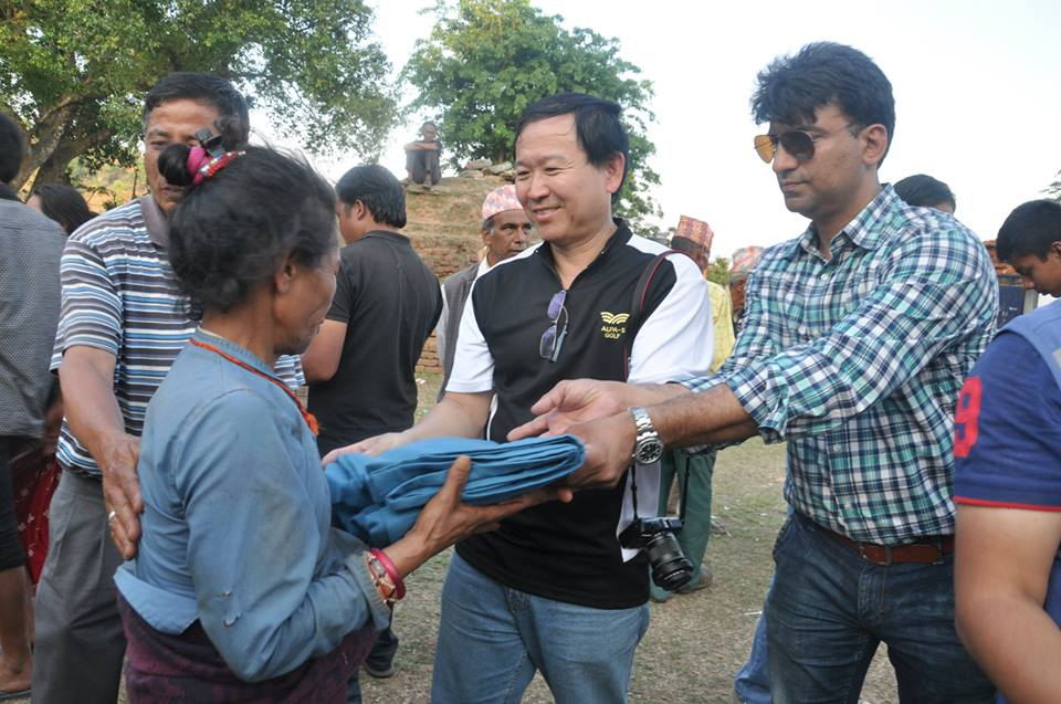 Relief Materials to Bidur, Nuwakot