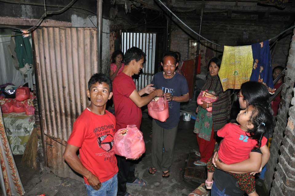 Relief Material Distribution – Chabahil, Kathmandu