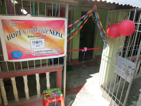 Inauguration of the HOPE worldwide Nepal, Vocational Training Centre (VTC) in Biratnagar.