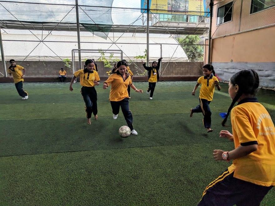 Grade 4 and 5 at Futsal.